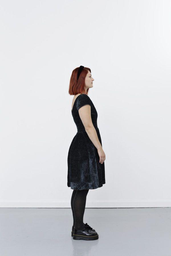 Feminine velvet dress