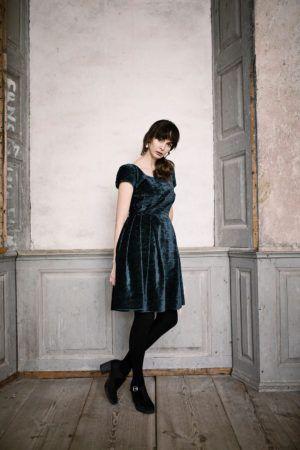 Dress in velvet